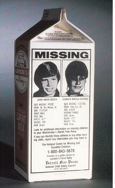 Missing Kid Milk Carton 1970 S Milk Carton Kids Milk Missing Child