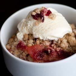 Cranberry-appel kruimeltaart