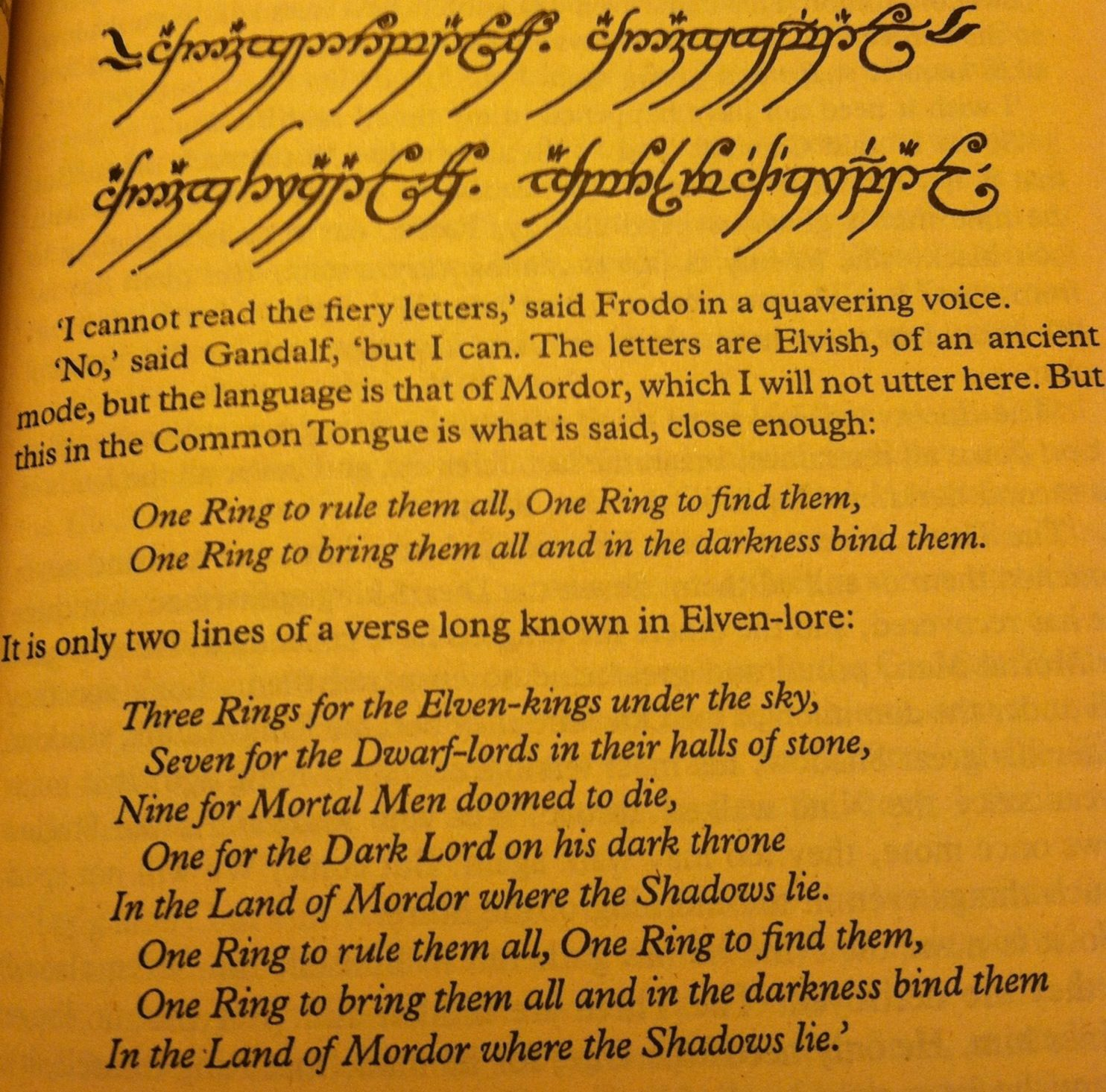 "One Right To Rule Them All One Ring To Find Them One: ""Three Rings For The Elven-kings Under The Sky, Seven For"