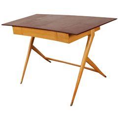 Sycamore desk by Jules LELEU, 1959.