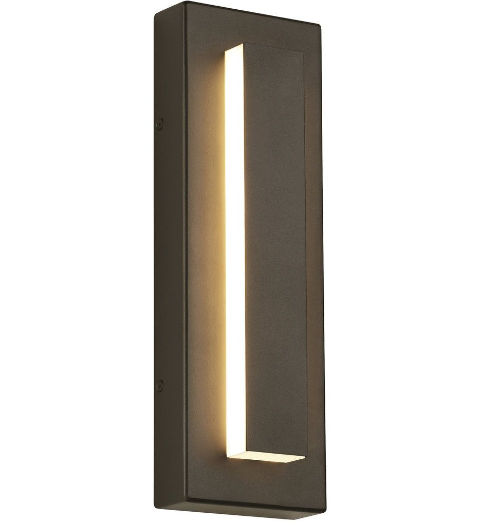 Tech Lighting 700owasp93015dhunvssp Aspen Charcoal 15 Inch Outdoor Wall Sconce With Surge Protection In 2020 Modern Outdoor Sconces Outdoor Walls Outdoor Sconces
