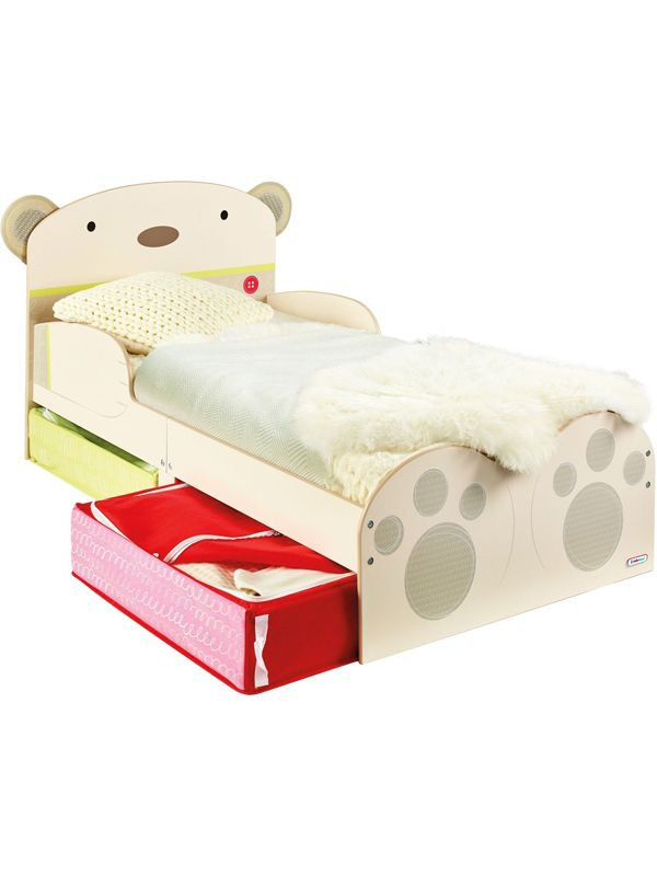 Adorable Bear Hug Snuggletime Toddler Bed With 7 6cm Foam Mattress