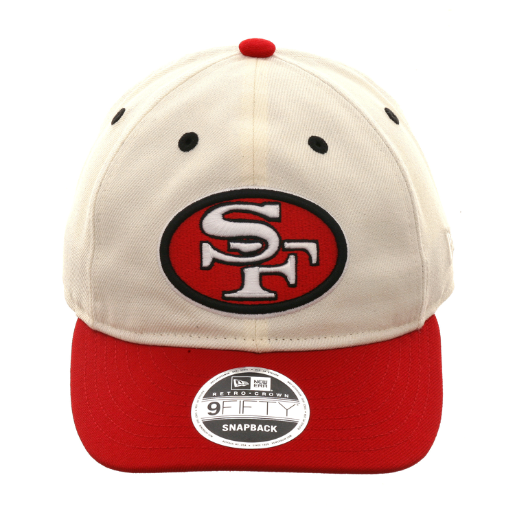 low priced 770ca 26077 New Era 9fifty San Francisco 49ers Retro Crown Snapback Hat - 2T White, Red,    29.99