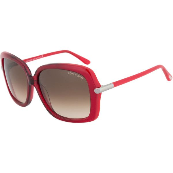 2aefe5f4886b Tom Ford FT0323 68F Paloma Womens Sunglasses - Red Frame and Brown... (