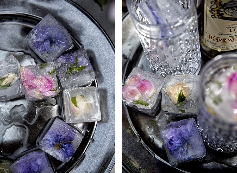 Floral ice cubes beverages libbie summers lake tahoe