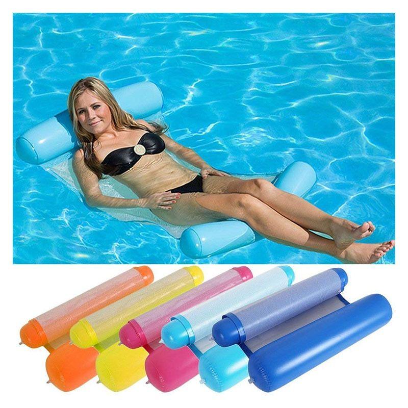 Aufblasbare Floating Wasser Lounge Hängematte Liegestuhl Schwimmbecken Schwimmen