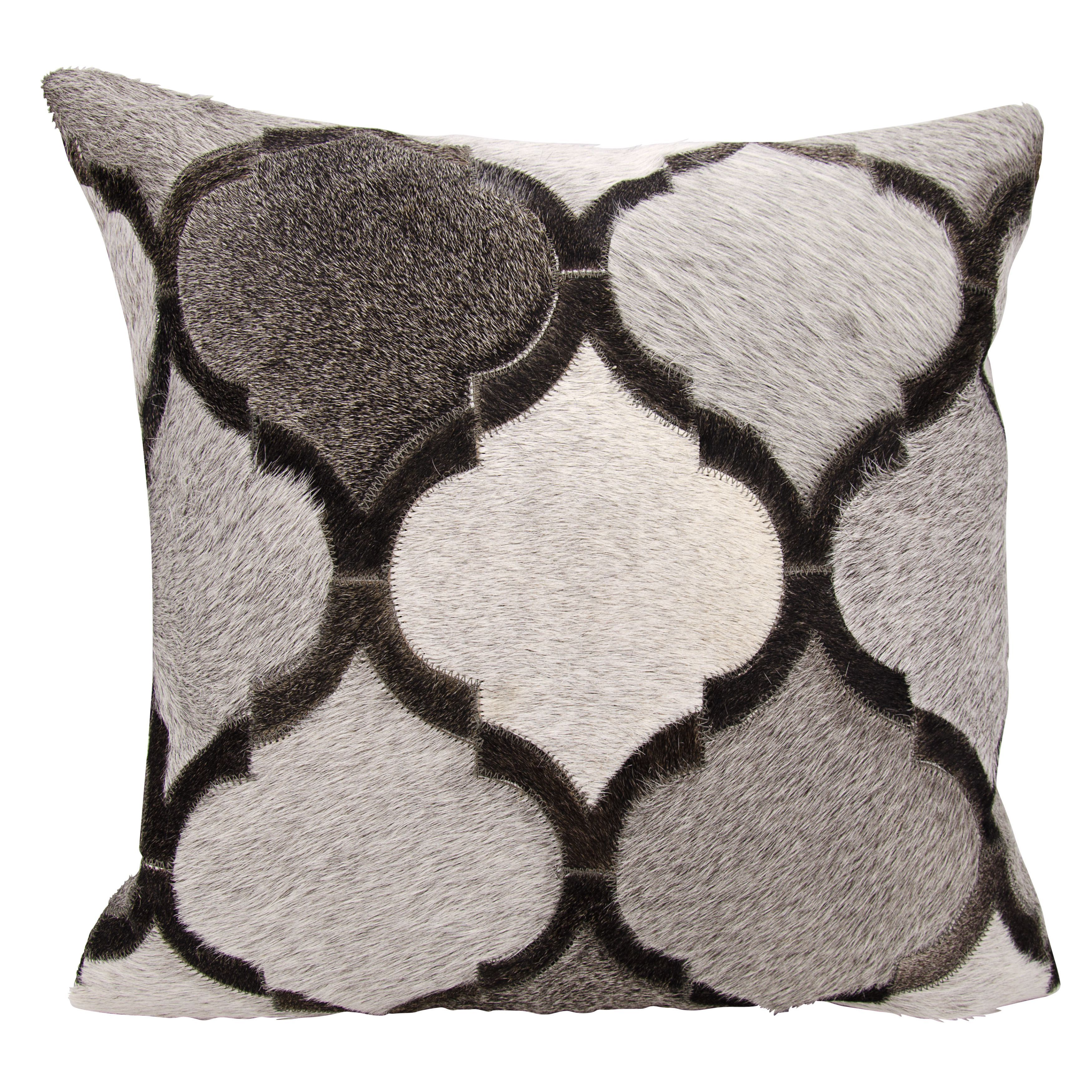 Mina Victory and Hide Lantern Design Silver/ Throw Pillow by Nourison
