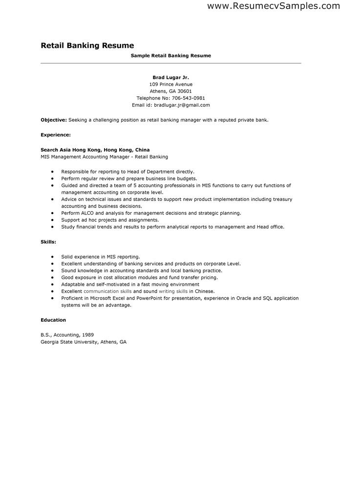resume examples sample resumes for retail jobs sales formatting - good resume examples for retail jobs