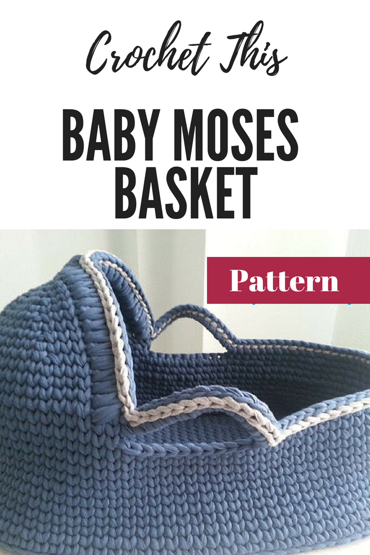 Baby Bassinet Moses Basket Crochet Pattern Baby Moses Basket Baby Crochet Pattern