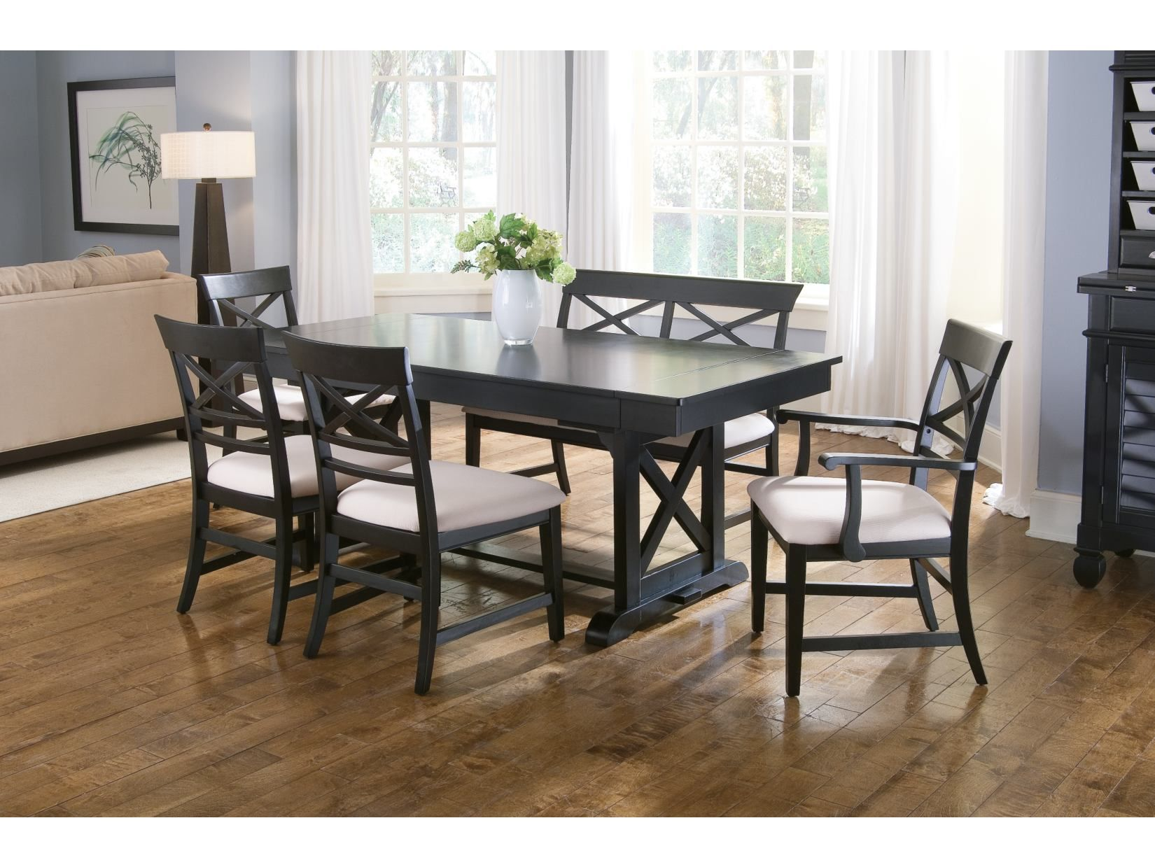 Plantation Cove 5 PC Black Dinette   American Signature Furniture