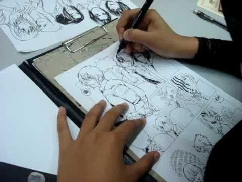 Hair Inking Using Lavendra S Syle Manga Manga Hair Ink Manga