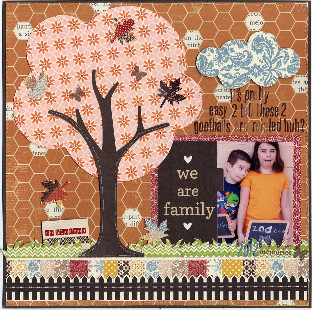 Family scrapbook ideas on pinterest - We Are Family Scrapbook Com