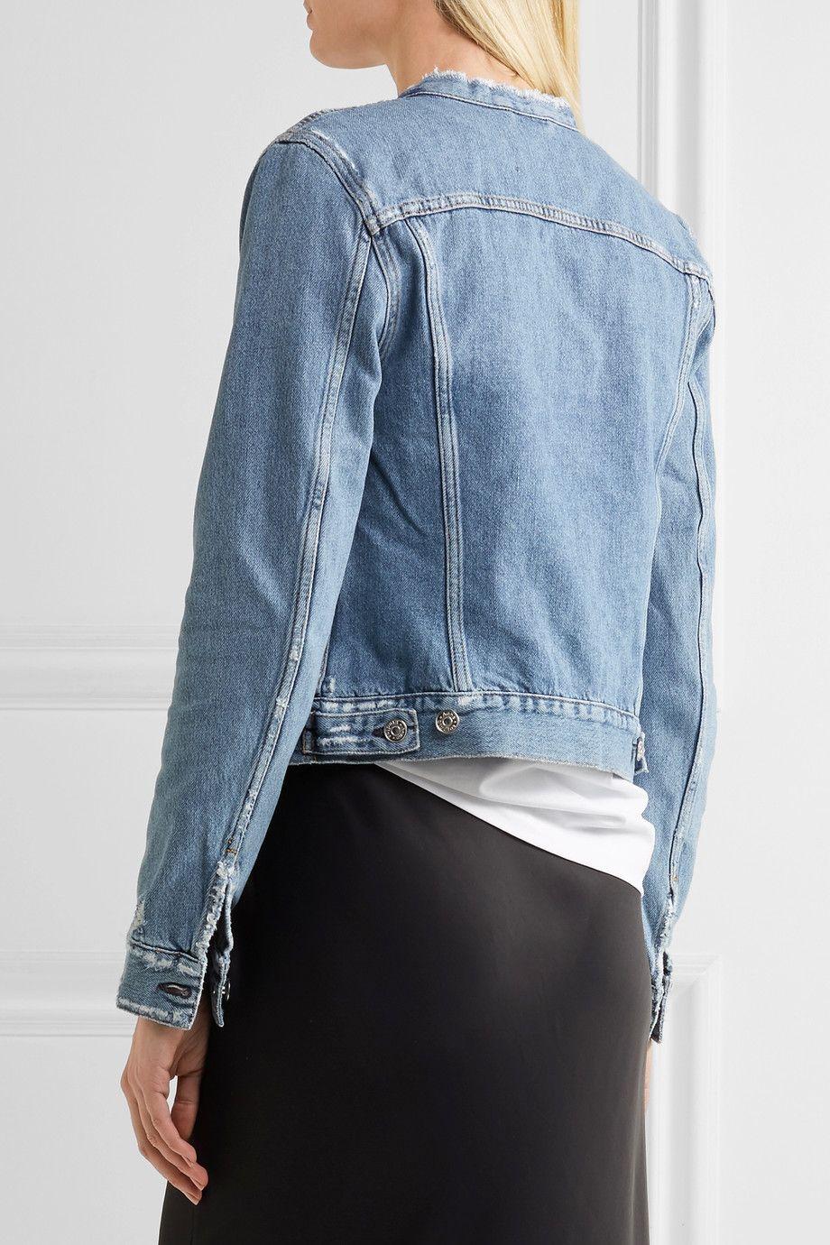 Acne Studios - Veste en jean effet vieilli. Light-blue denim Button  fastenings through front 100% cotton Dry clean Made in Italy 6c03a25b047
