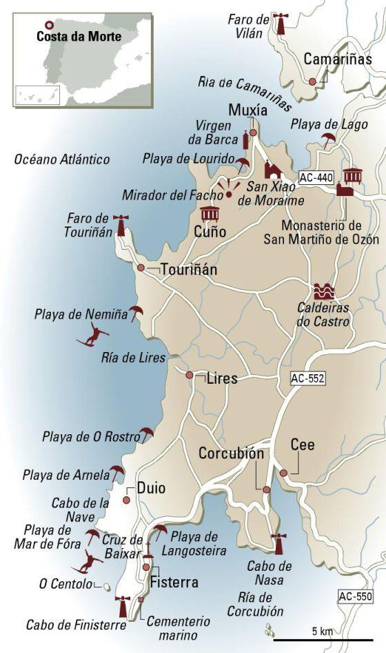 En Coche Por La Costa Da Morte Costa Da Morte Galicia Turismo Viajar Por España