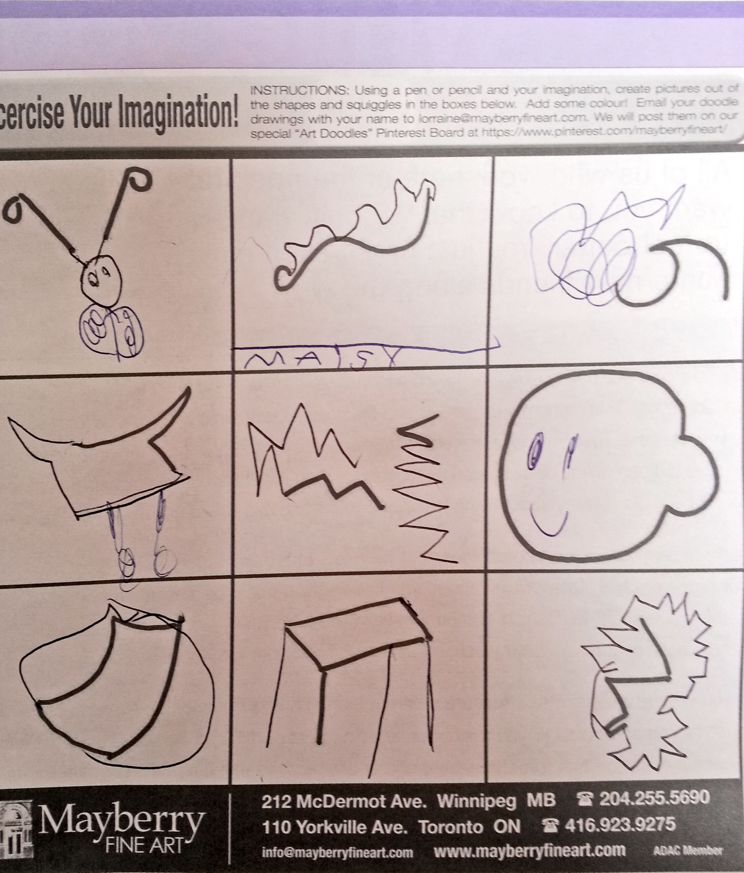 Maisy D., age 5 years. Thanks, Maisy, keep on drawing! | Make a Wish ...