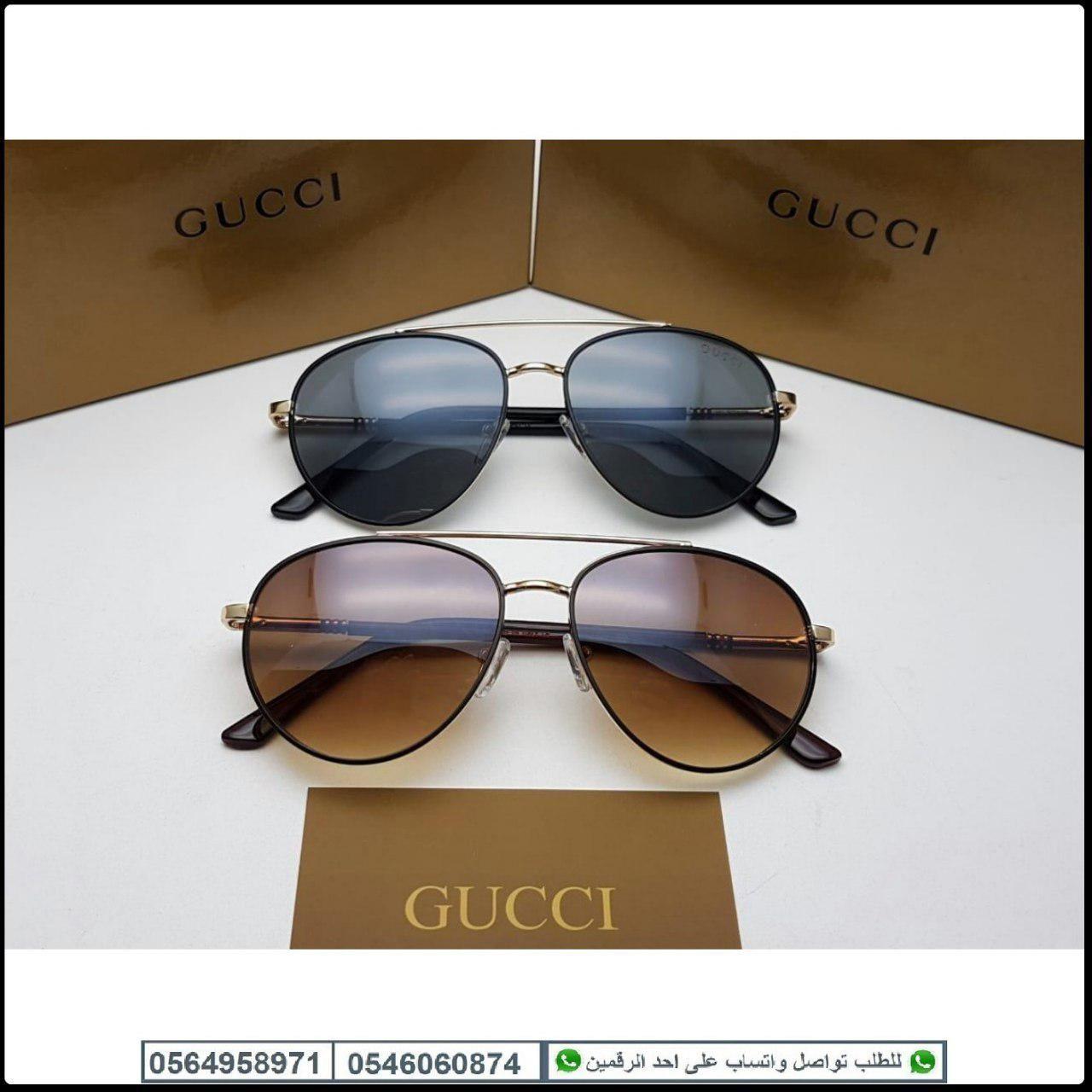 نظارات قوتشي رجاليه Gucci مع جميع الملحقات و بنفس الاسم هدايا هنوف Oval Sunglass Glasses Sunglasses