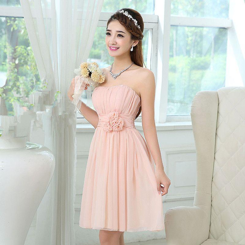 Light Pink Short Wedding Dresses