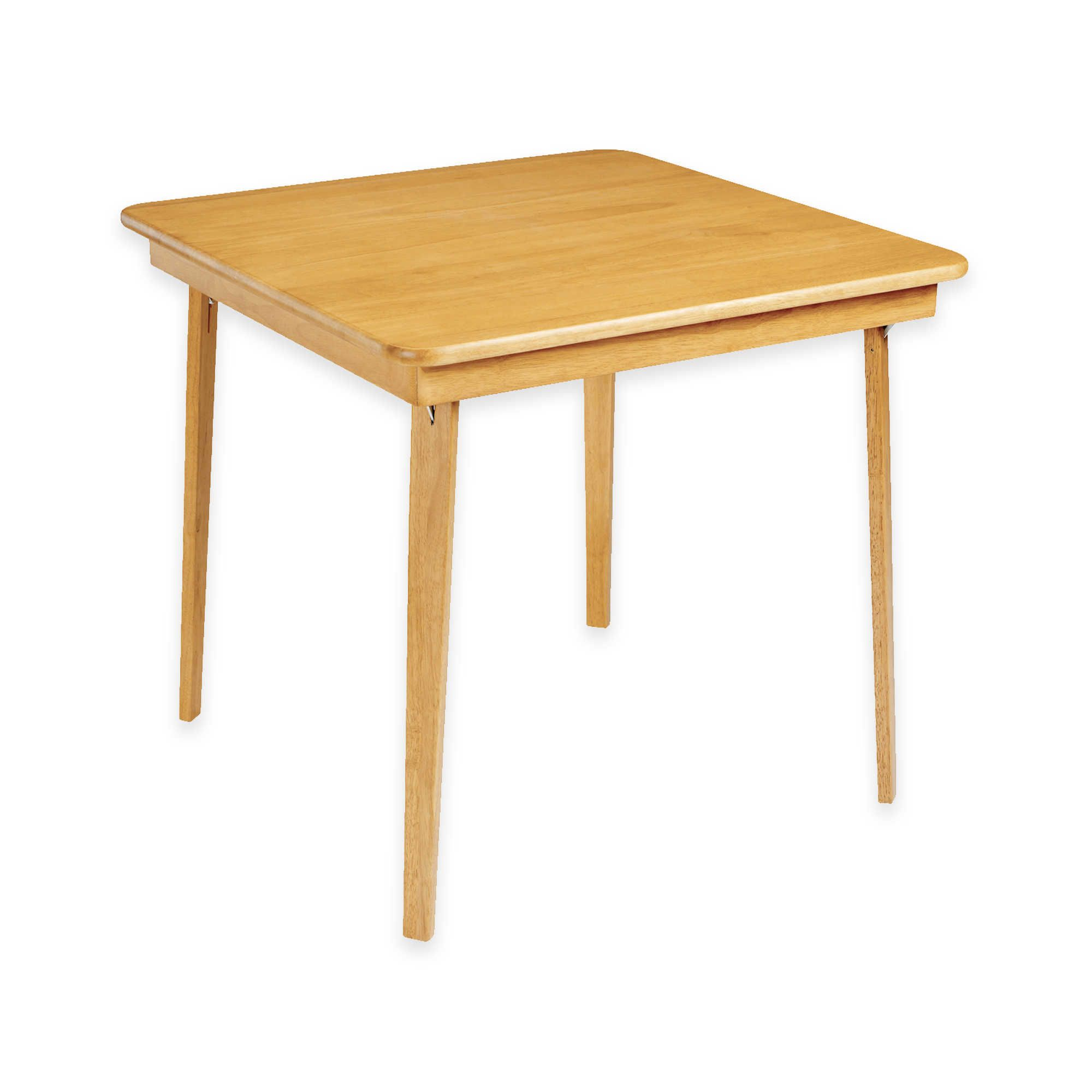 Stakmore 32 Inch Straight Edge Folding Card Table Wood Folding
