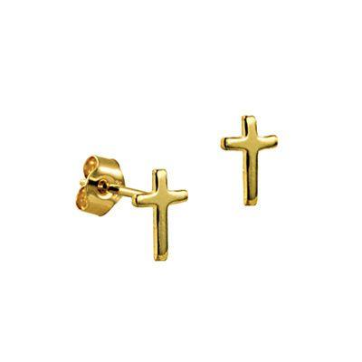 bf5faaa1ba3 Stud Earrings - TINY CROSSES - 9ct Gold in 2019 | Earrings | Tiny ...