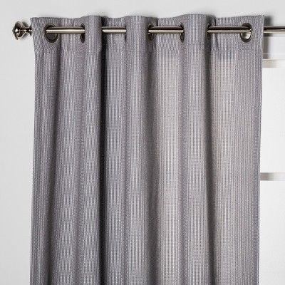 108 X50 Luster Basket Light Filtering Weave Curtain Panels