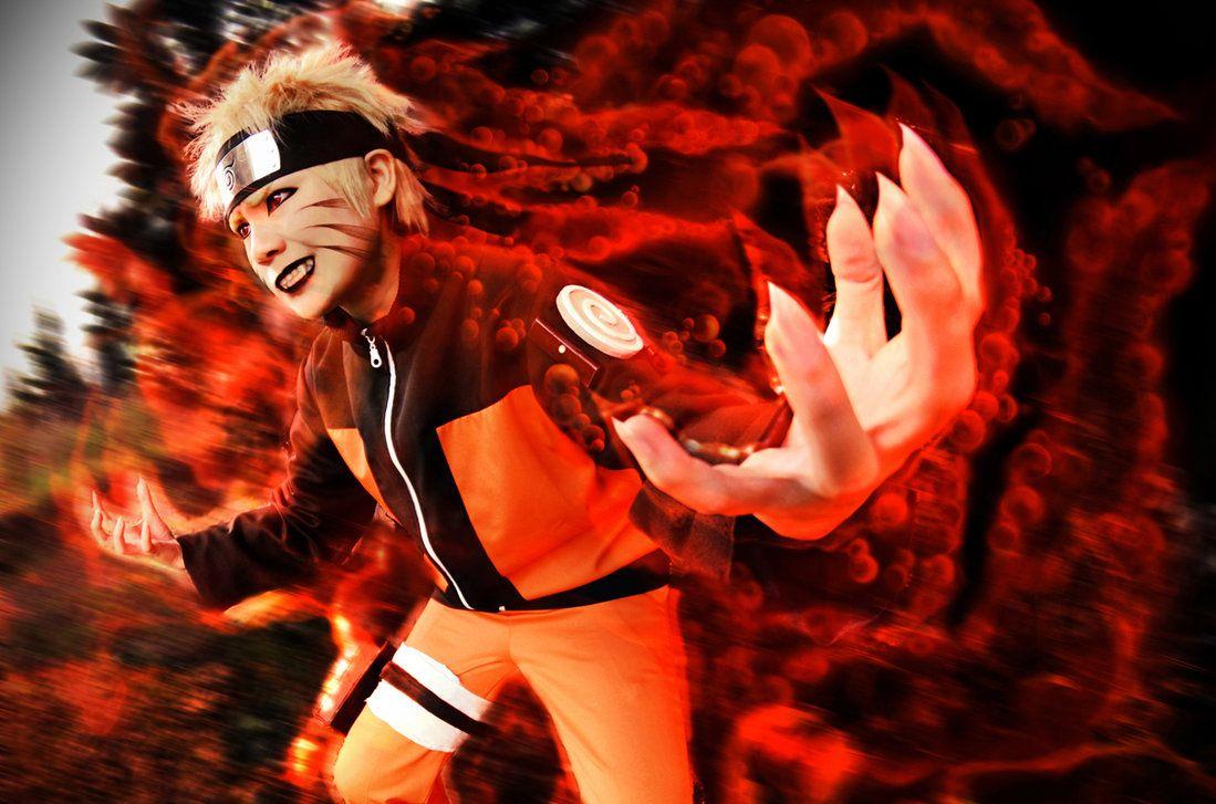 Naruto nine tailed fox cosplay