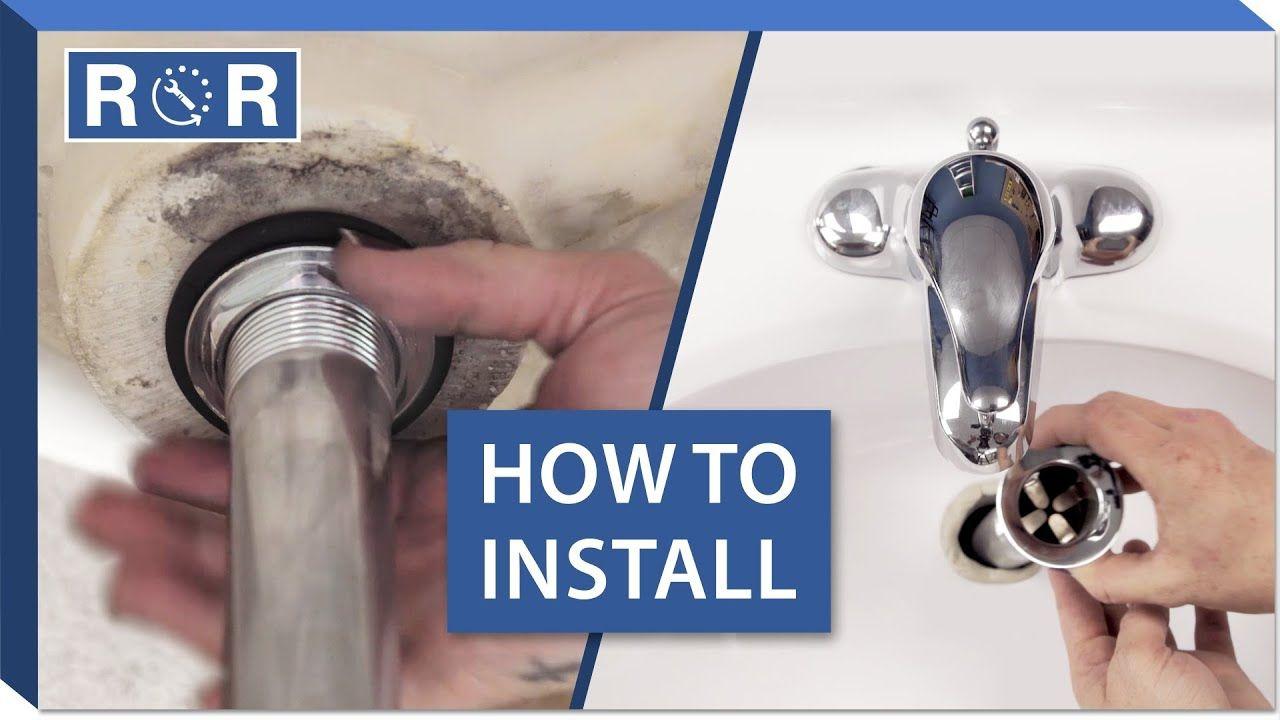 How To Install A Bathroom Sink Drain Repair And Replace Youtube In 2020 Bathroom Sink Drain Drain Repair Sink Drain