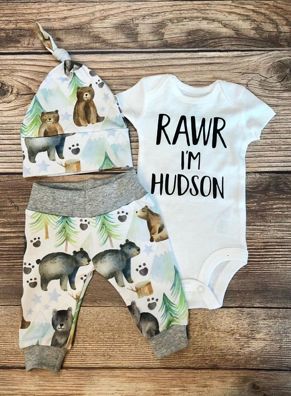 Photo of Little Bear Coming Home Outfit, Going Home Outfit, baby name outfit, baby name announcement, newborn boy, baby bear, bear outfit,baby shower