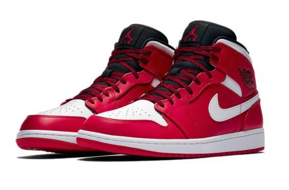 f24c07ecd08140 Air Jordan 1 Mid Gym Red White Coming Soon