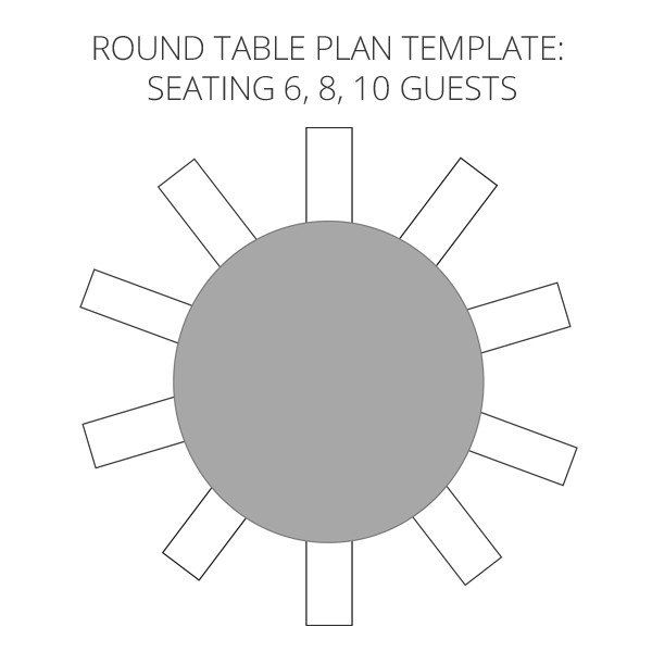 u shaped seating chart template