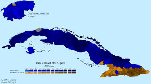Racial map of Cuba, 2012 Cuban census | Maps | Pinterest