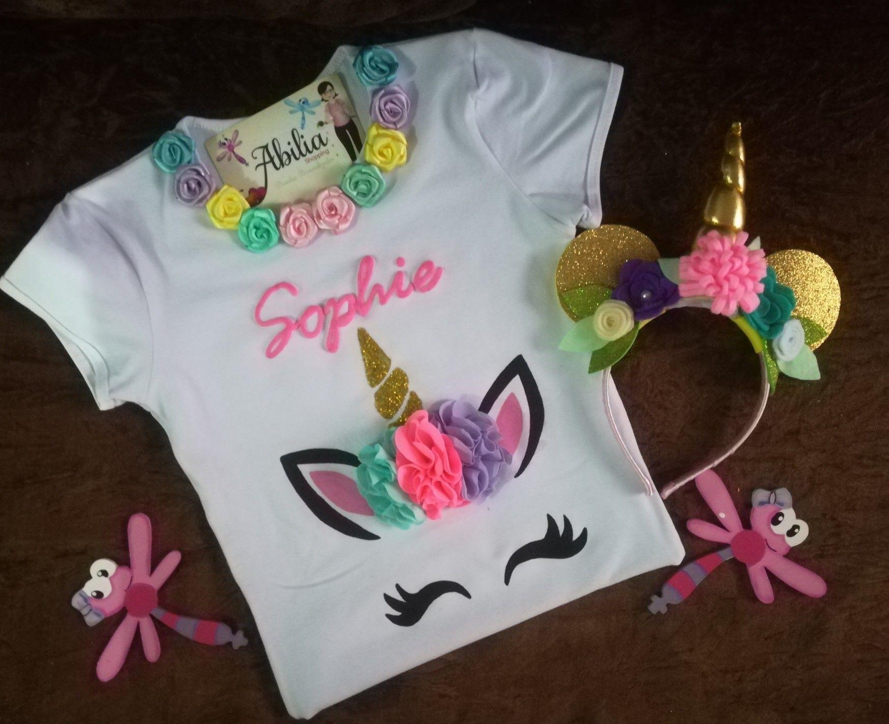 bac161523387a Blusas personalizadas unicornio Abilia shopping Blusas Unicornio