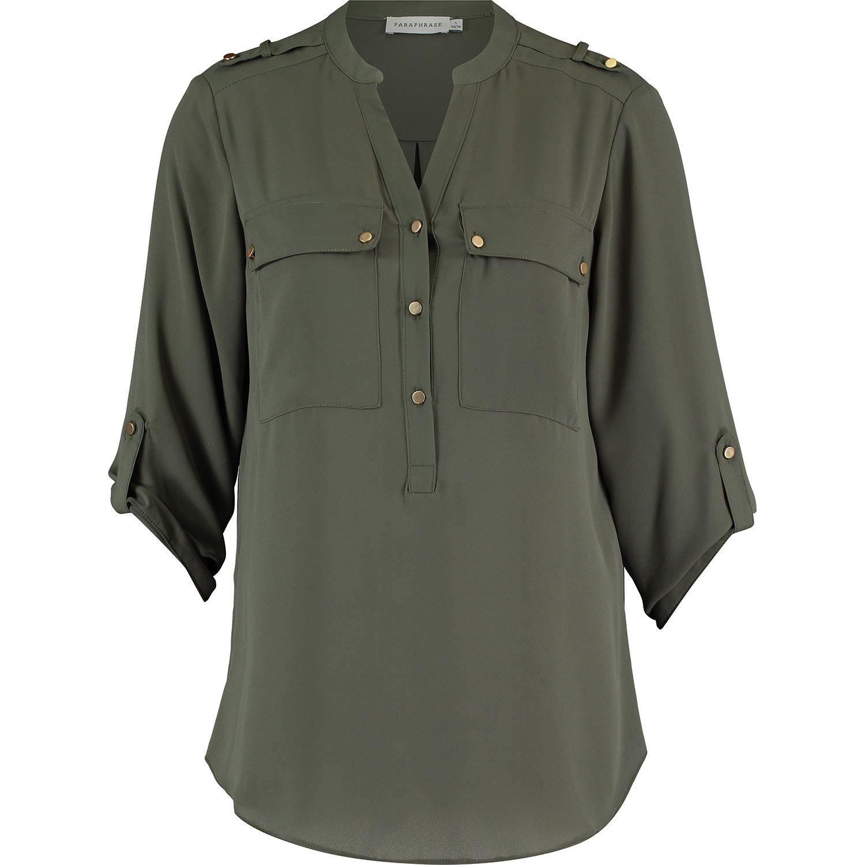 Paraphrase Khaki Sheer Blouse Tk Maxx Women Tops Jacket
