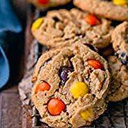Ultimate peanut butter cookie recipe made with Reeses pieces and peanut butter  Ultimate peanut butter cookie recipe made with Reeses pieces and peanut butter cups