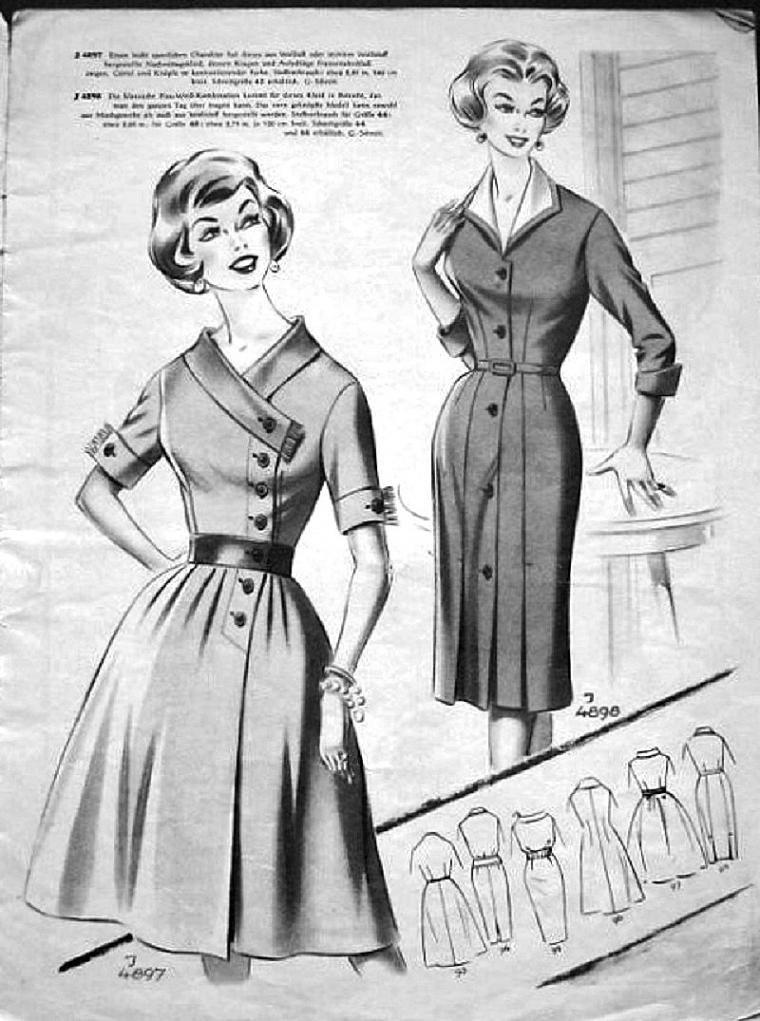 «По страницам Modenschau»: мода 50-х годов прошлого ...
