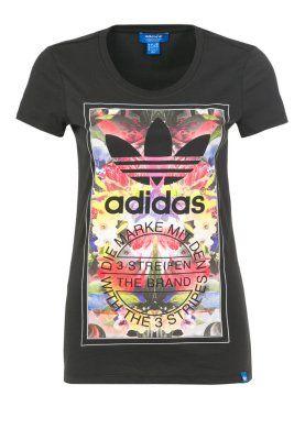 adidas Originals T-shirt print - Zwart - Zalando.nl ...