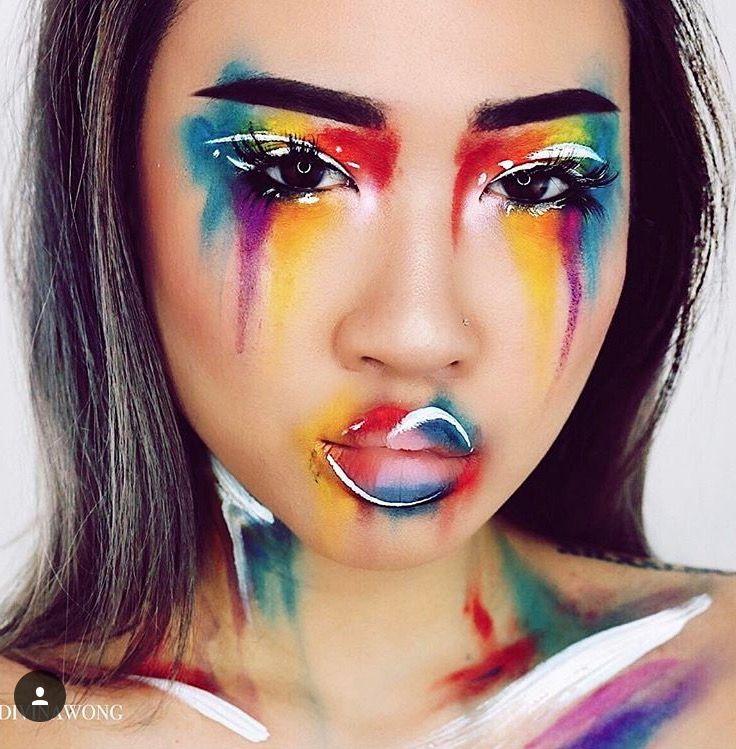 Pin by alexa Gonzalez on Avantgarde Crazy makeup