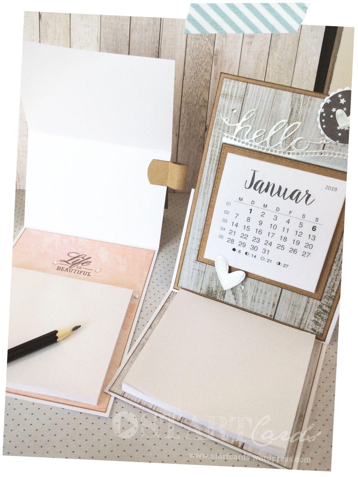 Tischkalender 2019 Mit Notizblock Basteln Tischkalender