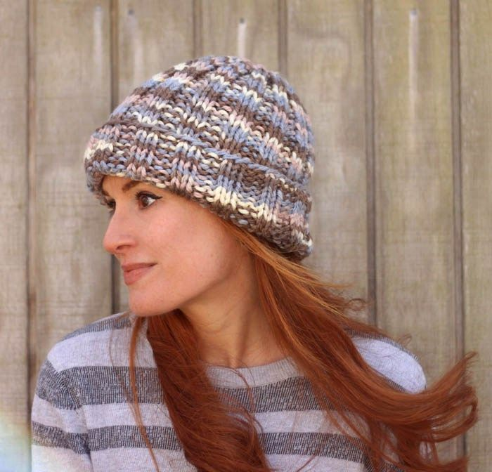 Flat Knit Hat Free Knitting Pattern Perfect For Beginners Knit