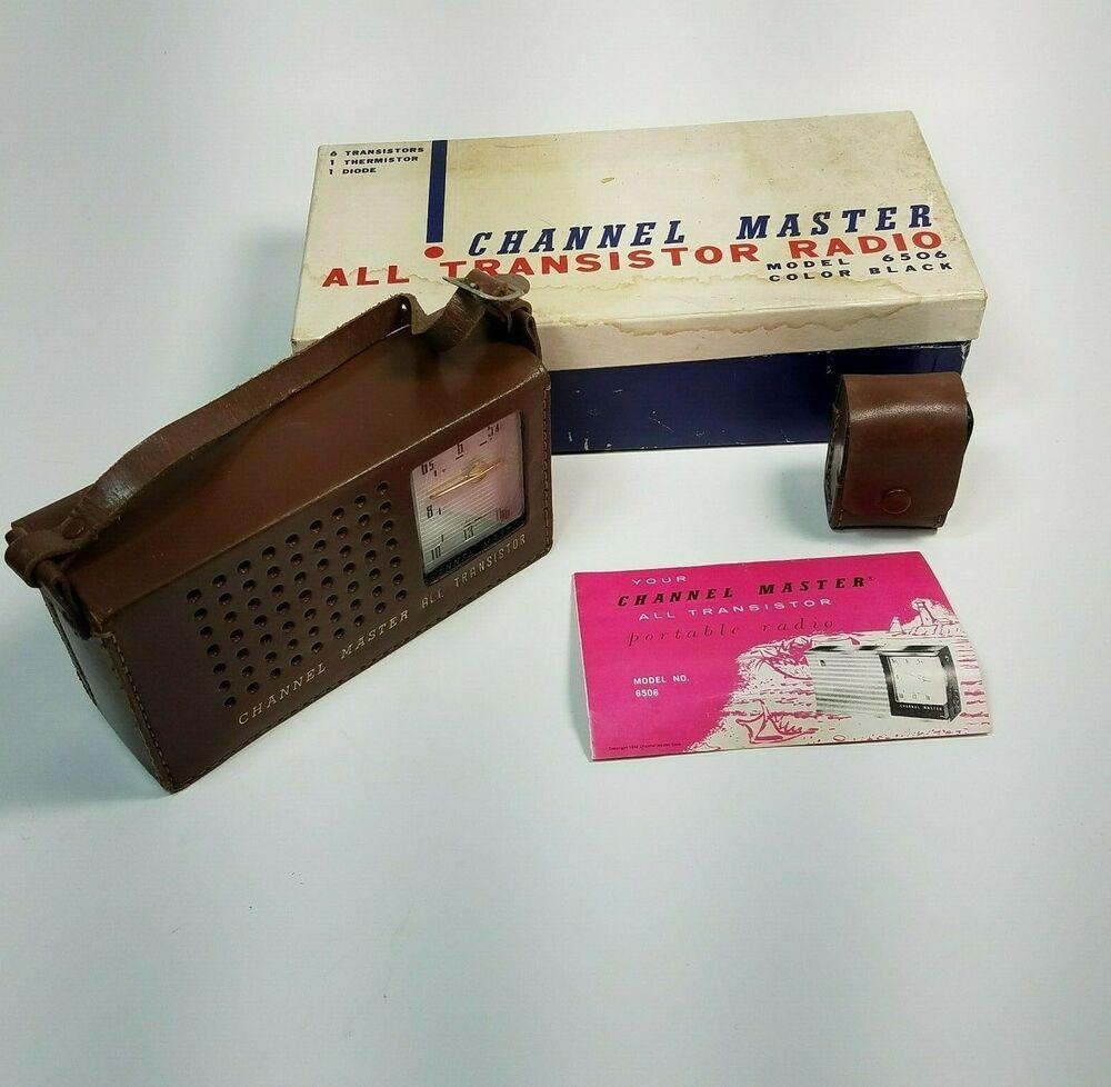 Vintage Channel Master All Transistor Radio Model 6506 Color Black Parts Only Channelmaster Transistor Radio Transistors Radio