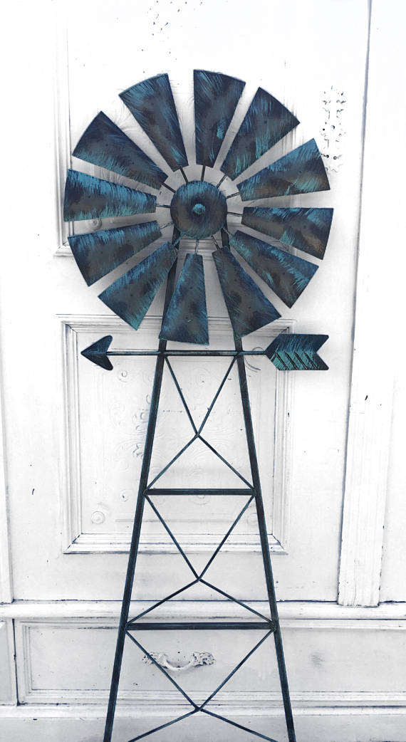 Wind Mill Farm Wind Mill Ranch Wind Mill Wall Decor Wind French Teal Metal Windmill Wall Decor Windmill Decor Windmill