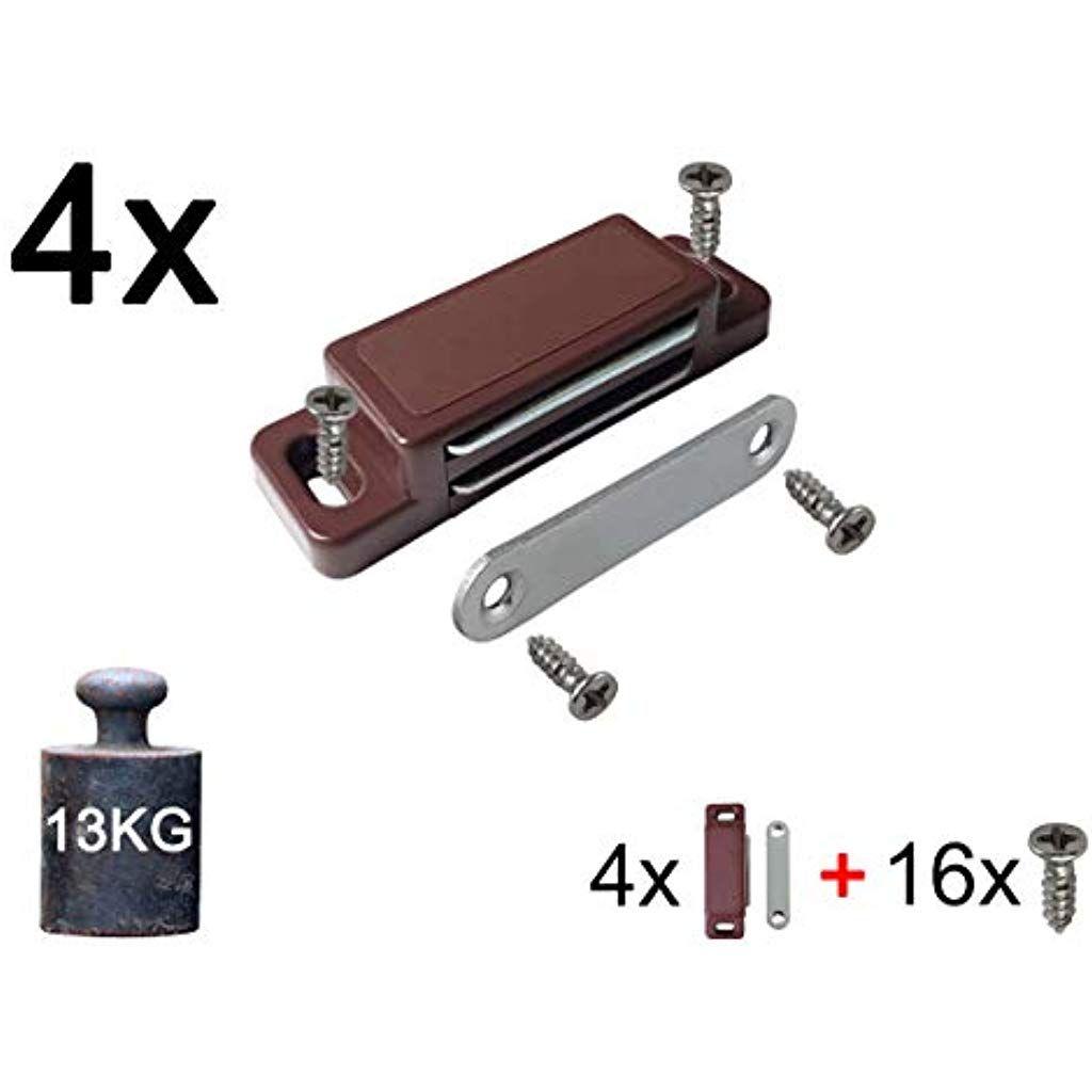 4x Magnetschnäpper Schrankmagnet Haltekraft 13 KG | SET mit ...