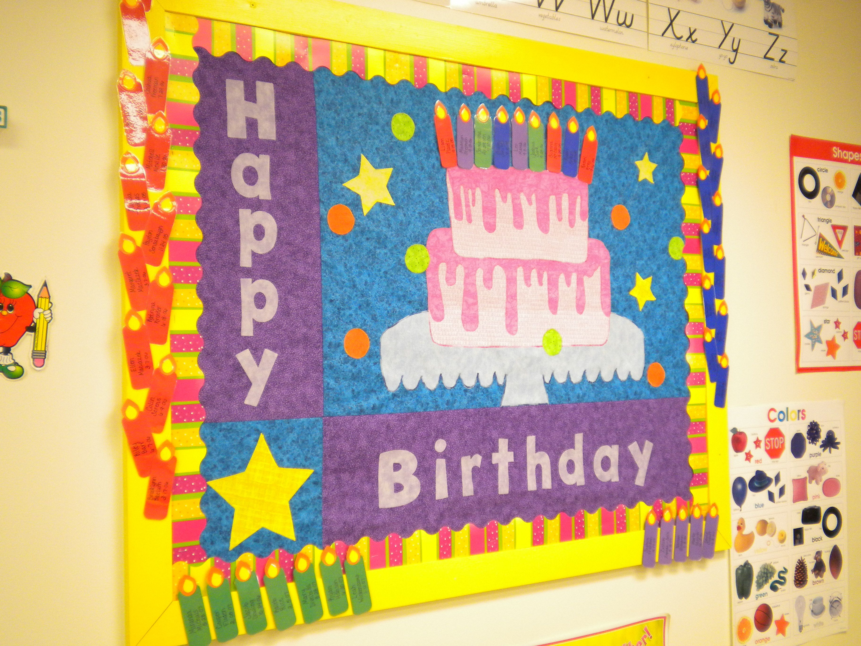 Best paint colors for preschool classrooms - Bunches Of Bulletin Boards Classroom Birthday Boardpreschool