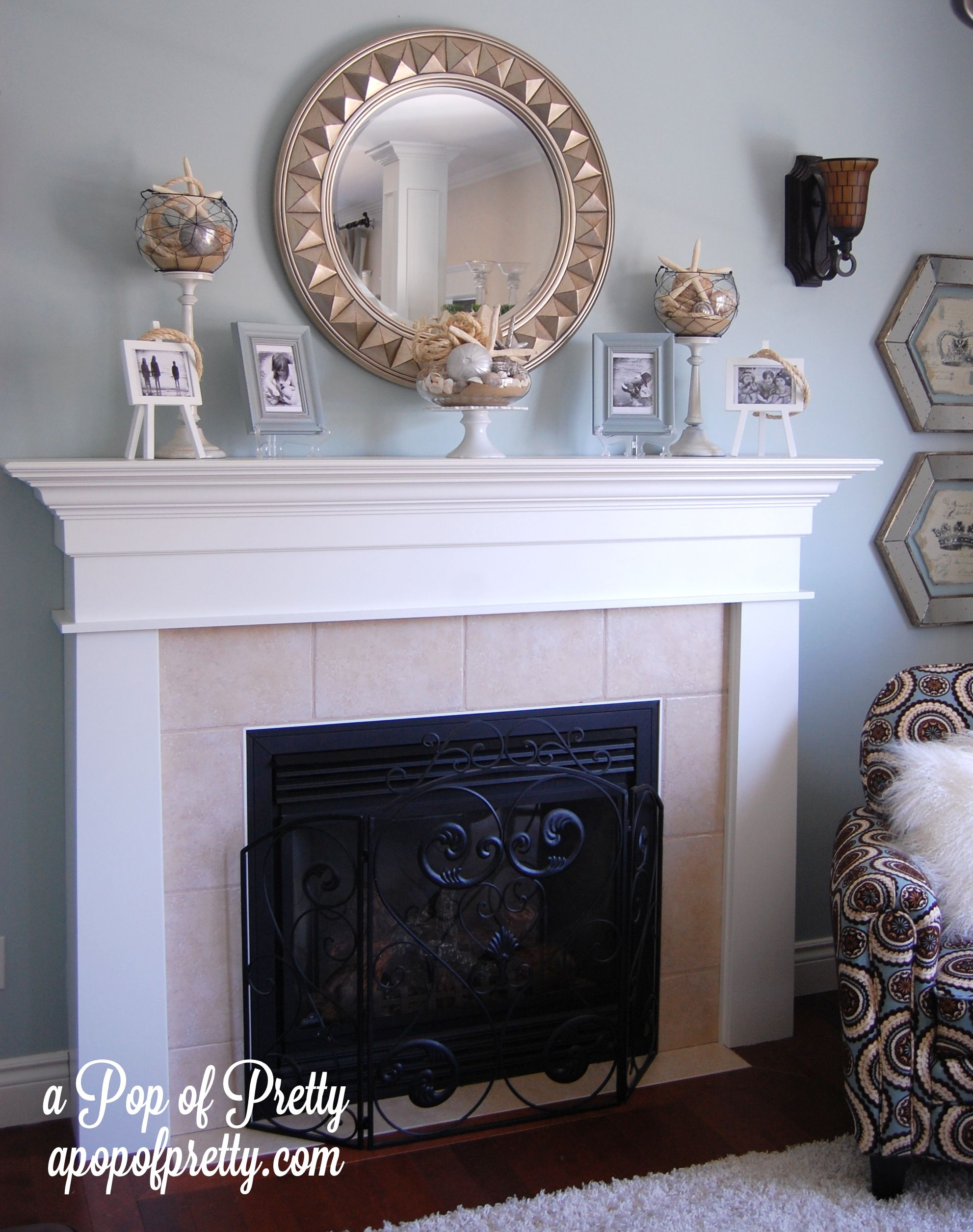 Unique Fireplace Mantel with Mirror