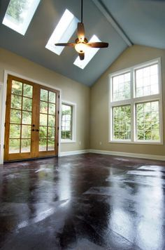 Love The Paint Color Windows With Wood French Doors