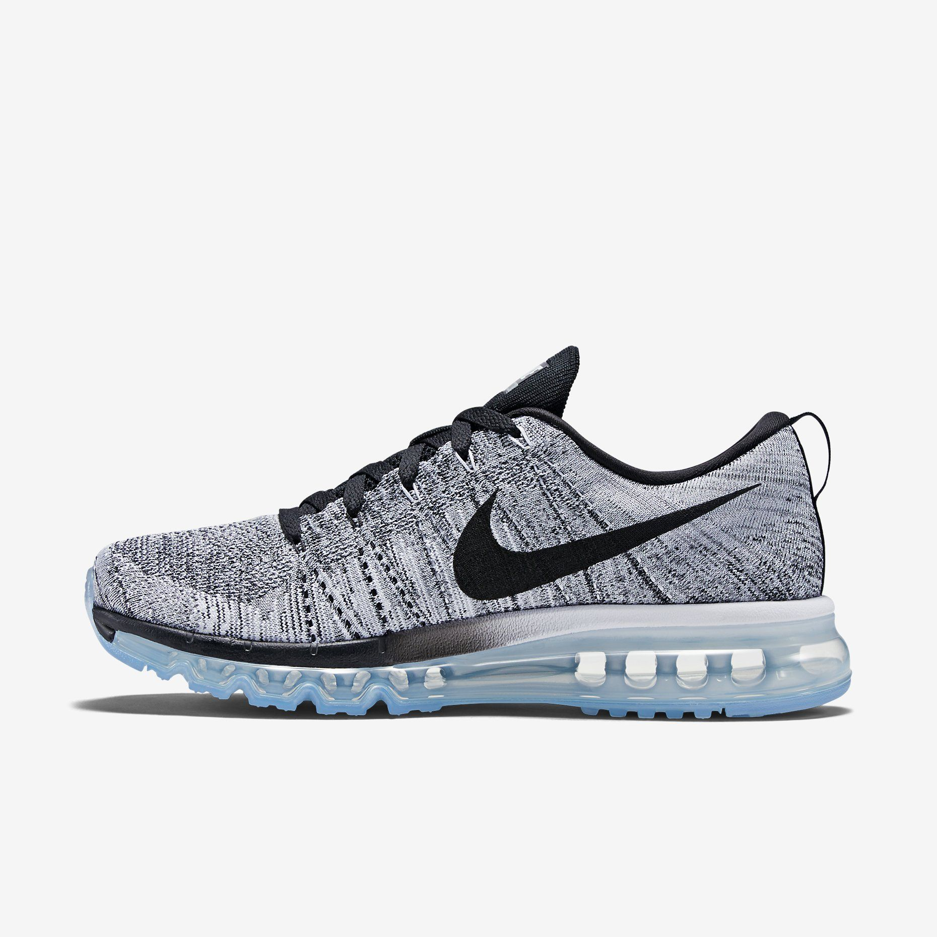 Flyknit Air Max - White / Black / Cool Grey � Men Running ShoesAir ...