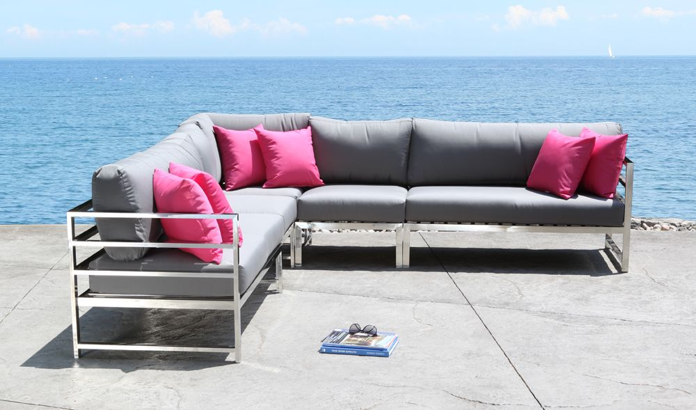 Attractive SOHO Outdoor Sectional Stainless Steel Patio Furniture