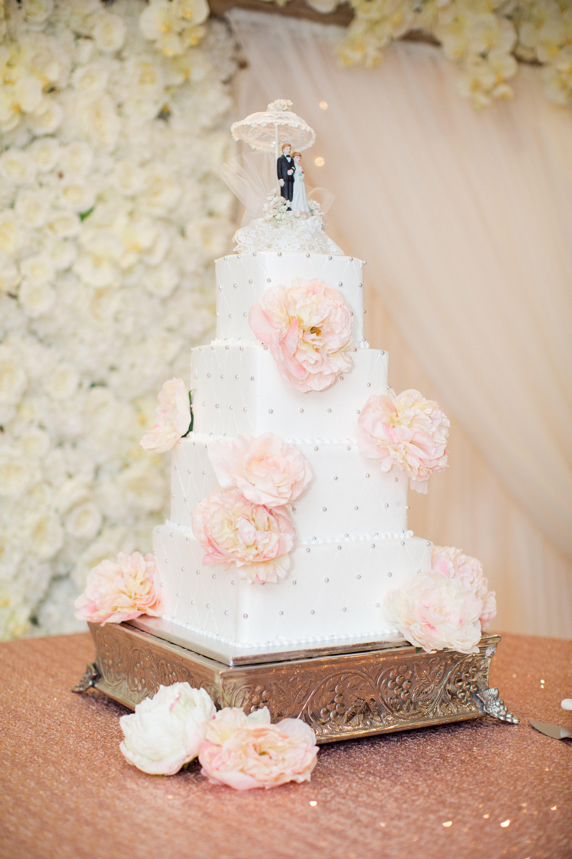 Soft And Sweet Pink Wedding | Buttercream wedding cake