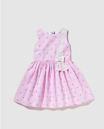 Vestido de niña Freestyle de rayas rosas