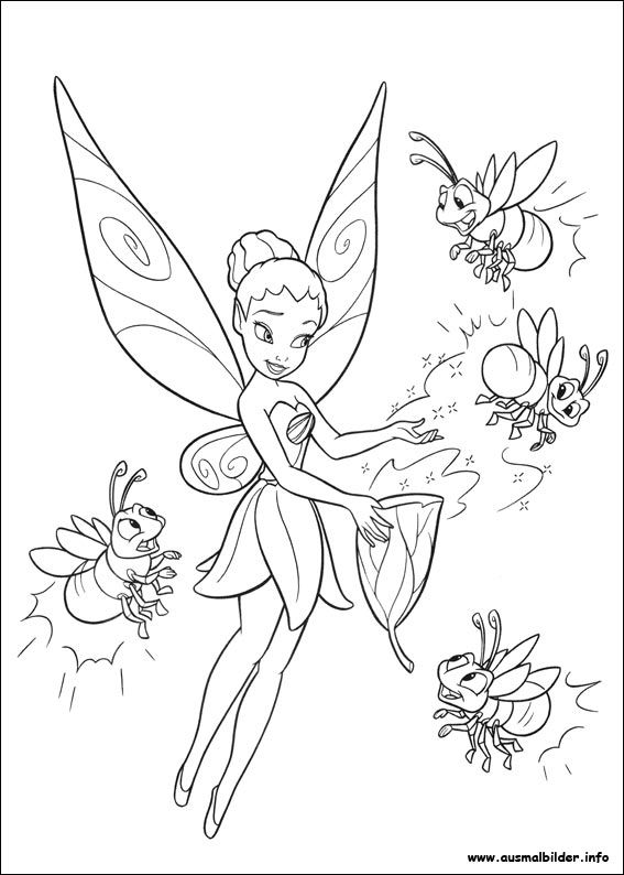 Ausmalbilder Feen 05 Tinkerbell Coloring Pages Fairy Coloring