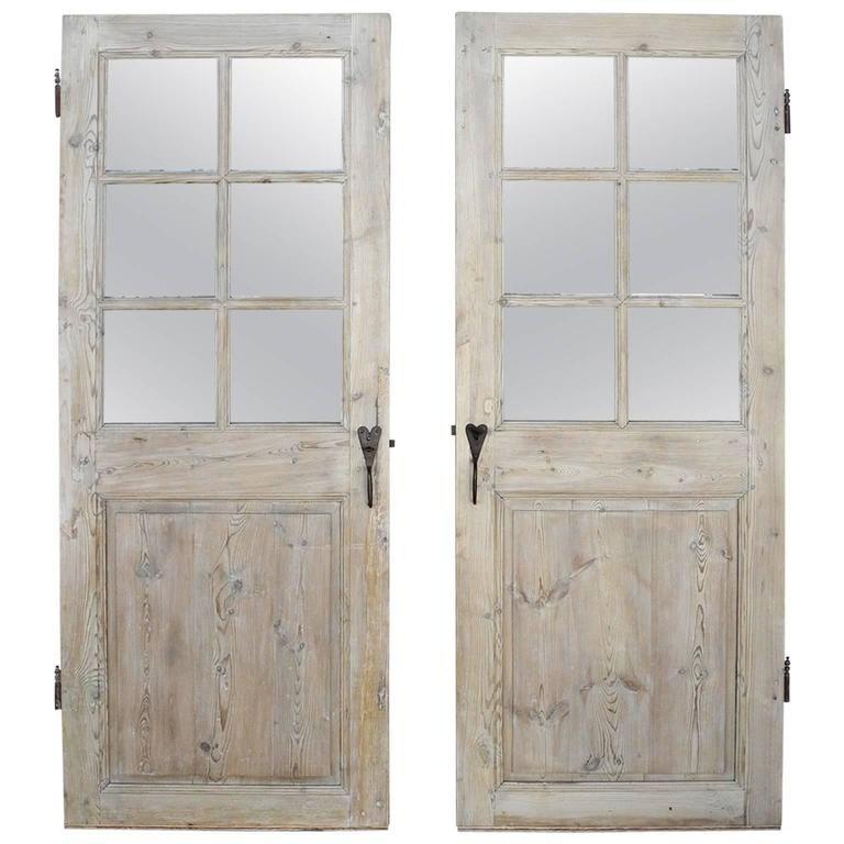 Antique Set Of Two 18th Century Wooden Doors With Matching Hardware From Lyon Vintage Doors Wooden Doors Reclaimed Doors